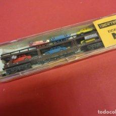 Trenes Escala: IBERTREN ESCALA N. VAGON PORTACOCHES EN CAJA ORIGINAL. Lote 143735390