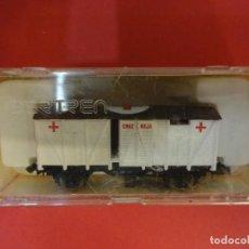 Trenes Escala: IBERTREN ESCALA N. VAGON CRUZ ROJA EN CAJA ORIGINAL. Lote 143735726