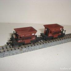 Trenes Escala: IBERTREN N 2 VAGONETAS DE MINAS CON DEFECTO (CON COMPRA DE CINCO LOTES O MAS ENVÍO GRATIS). Lote 142585522