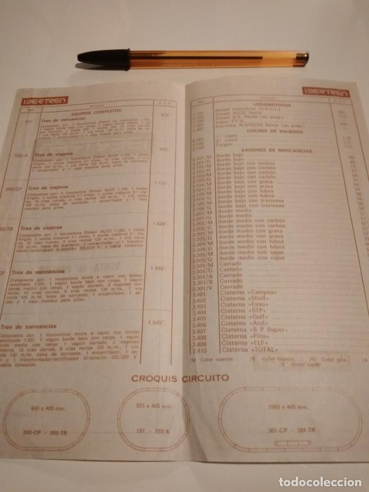Trenes Escala: Ibertren N. Tarifas de venta al público. Octubre 1971. Buen estado. - Foto 2 - 145293378