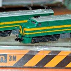 Trenes Escala - LOCOMOTORA DIESEL ALCO DOBLE 1800 RENFE (VERDE) DE IBERTREN. ESCALA N O 2N. - 149243830