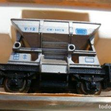 Trenes Escala: VAGONETA DE MINAS IBERTREN N REF. 465 Y TRES TRAMOS RECTOS NUEVOS 3N. Lote 151463714