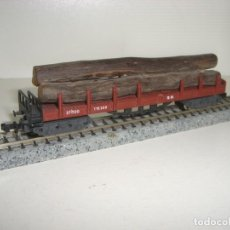 Trenes Escala: IBERTREN N TELERO CARGA DE TRONCOS (CON COMPRA 5 LOTES O MAS ENVÍO GRATIS). Lote 154681866