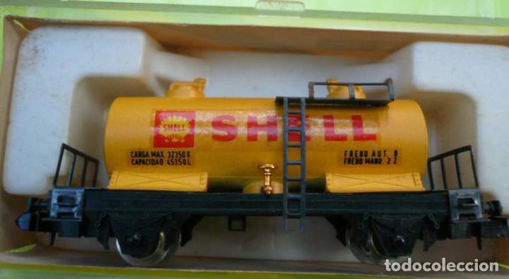 Trenes Escala: VAGON IBERTREN N CISTERNA SHELL 2 EJES REF. 352 - Foto 4 - 155038390