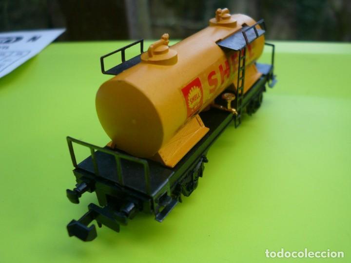 Trenes Escala: VAGON IBERTREN N CISTERNA SHELL 2 EJES REF. 352 - Foto 5 - 155038390