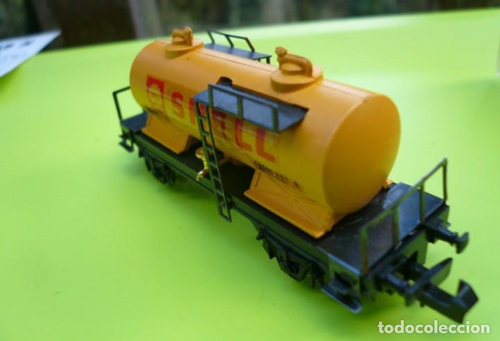 Trenes Escala: VAGON IBERTREN N CISTERNA SHELL 2 EJES REF. 352 - Foto 6 - 155038390
