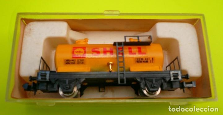 Trenes Escala: VAGON IBERTREN N CISTERNA SHELL 2 EJES REF. 352 - Foto 10 - 155038390