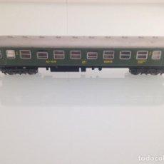 Trenes Escala: TREN, IBERTREN 203, COCHE 2ª CLASE RENFE AA-8118 021, BARCELONA-MADRID, VERDE. Lote 157197602