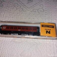 Trenes Escala: VAGON IBERTREN MATARO, REF. 222 SIN ESTRENAR Y CON SU CAJA, ESCALA N, ORIGINAL.. Lote 177692755