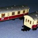 Trenes Escala: 2 VAGONES DE PASAJEROS DE IBERTREN ESCALA N ORIGINALES EN BUEN ESTADO VER FOTOS Y DESCRIPCION. Lote 157871642