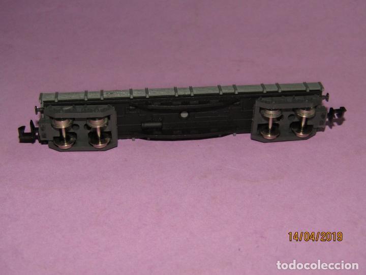 Trenes Escala: Antiguo Vagón Borde Bajo con Cajas 4 Ejes en Escala *N* Ref. 396 de IBERTREN - Foto 4 - 160535002