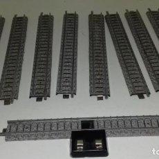 Comboios Escala: IBERTREN 3N 8 RECTAS Y UN CONECTOR DE CORRIENTE, VIAS MET (CON COMPRA DE 5 LOTES O MAS ENVÍO GRATIS). Lote 160616742