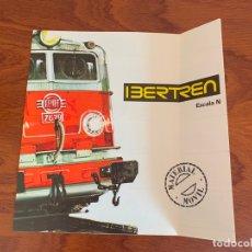 Trenes Escala: IBERTREN N CATALOGO MATERIAL MOVIL 1975. Lote 167057200