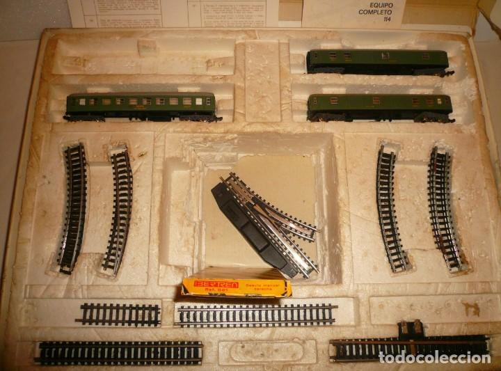 VAGONES VIAJEROS IBERTREN N EN CAJA 112 MUY DETERIORADA E INCOMPLETA (Juguetes - Trenes a escala N - Ibertren N)