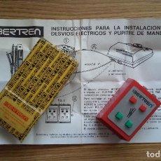 Trenes Escala: IBERTREN 3N PUPITRE DE MANDOS PARA DESVÍOS ELÉCTRICOS ,REF. 703, CAJA E INSTRUCCIONES. Lote 200775426