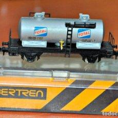 Trenes Escala: VAGÓN CISTERNA 2 EJES TOTAL DE IBERTREN, REF. 360. ESCALA N. Lote 168123500