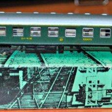 Trenes Escala: COCHE DE VIAJEROS 4 EJES 1ª CLASE VERDE DE LA SERIE 8000 DE RENFE DE IBERTREN, REF. 201. ESCALA N. Lote 168617320