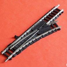 Trenes Escala: DESVÍO MANUAL DERECHA REF. 920, IBERTREN ESC. N 2N, ORIGINAL AÑOS 80. FUNCIONANDO. Lote 205821636