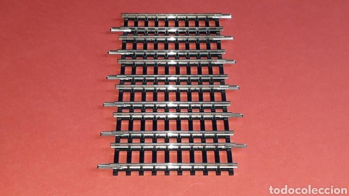 6 X RECTA 50 MM. REF. 0917, IBERTREN MADE IN SPAIN, ESC. N 2N, ORIGINAL AÑOS 80. (Juguetes - Trenes a escala N - Ibertren N)