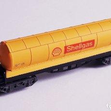 Trenes Escala: VAGÓN CISTERNA 4 EJES *SHELLGAS* REF. 363, IBERTREN MADE IN SPAIN, ESC. N, ORIGINAL AÑOS 80.. Lote 172587319