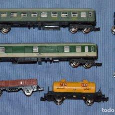 Trenes Escala: ESCALA N - LOTE 04 - VARIADOS 5 VAGONES IBERTREN - ANTIGUO - MADE IN SPAIN - ORIGINALES ¡MIRA!. Lote 173081963