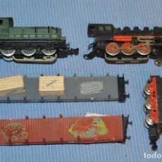 Trenes Escala: ESCALA N - LOTE VAGONES Y LOCOMOTRAS IBERTREN - ANTIGUO - MADE IN SPAIN - ORIGINALES ¡MIRA!. Lote 173082610
