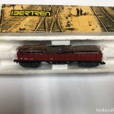 Trenes Escala: VAGON FABRICADO POR IBERTREN REF 3622M ESCALA N 4 EJES TRONCOS CON CAJA. Lote 175611370
