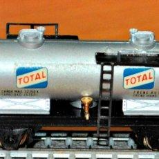 Trenes Escala: VAGÓN CISTERNA 2 EJES TOTAL DE IBERTREN, REF. 360. ESCALA N. Lote 175713784