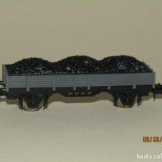 Trenes Escala: ANTIGUO VAGÓN BORDE BAJO 2 EJES REF. 306 EN ESCALA *N* DE IBERTREN. Lote 176216555