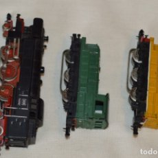 Trenes Escala: LOTE 3 LOCOMOTORAS - DESPIECE - IBERTREN MADE IN SPAIN - ESCALA N, 3N - IBERTREN ORIGINAL - ¿MIRA!. Lote 176421979