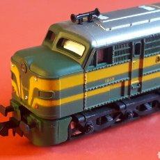 Trenes Escala: LOCOMOTORA DIESEL ALCO 1800 RENFE REF. 957, IBERTREN MADE IN SPAIN, ESC. N / 2N, ORIGINAL AÑOS 80.. Lote 177984004