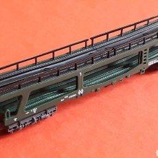 Trenes Escala: VAGÓN PORTA-COCHES REF. 451, IBERTREN MADE IN SPAIN, ESC. N, ORIGINAL AÑOS 80.. Lote 178064689