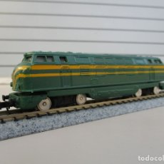Comboios Escala: IBERTREN LOCOMOTORA RENFE 4000 PROBADA CON UN TRAFO A 12 VOLTIOS Y FUNCIONA VER FOTOS 3N. Lote 178222790