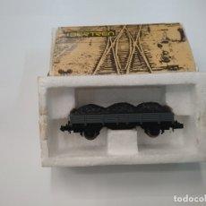 Trenes Escala: IBERTREN - ESCALA N - VAGÓN - BORDE MEDIO GRIS CON CARBÓN . Lote 179189255