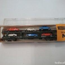 Trenes Escala: IBERTREN - ESCALA N - VAGÓN 452 - PORTA COCHES. Lote 179190255