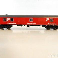 Trenes Escala: IBERTREN ESCALA N FURGON 8000 ROJO PAQUEXPRESS RENFE . Lote 182882425