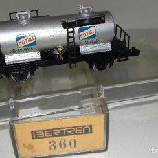Trenes Escala: IBERTREN N CISTERNA 2 EJES TOTAL REF 360L43-302 (CON COMPRA DE 5 LOTES O MAS ENVÍO GRATIS). Lote 183000421