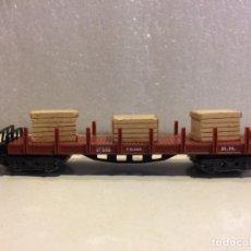 Trenes Escala: IBERTREN - MERCANCIAS TELEROS 4 EJES CON CAJAS - REF. 435 N. Lote 183694030