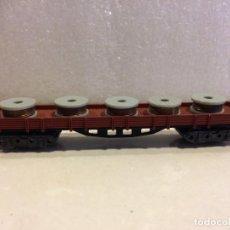 Trenes Escala: IBERTREN - MERCANCIAS BORDE BAJO 4 EJES CON BOBINAS - REF. 397 N. Lote 183694967