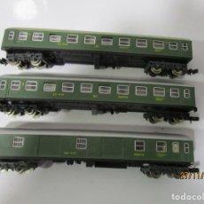 Trenes Escala: IBERTREN TRES VAGONES DOS PASAJEROS Y UNO EQUIPAJES VER FOTOS Y DESCRIPCION. Lote 184561900