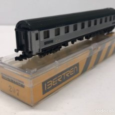 Trenes Escala: IBERTREN VAGÓN CAMAS ALUMINIO REFERENCIA 207, ESCALA N.. Lote 186449523