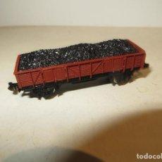 Trenes Escala: IBERTREN VAGON CARGA CARBON ABIERTO MARRON MUY BUEN ESTADO,BARATO. Lote 186451670
