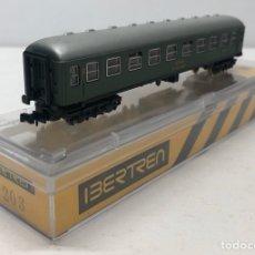 Trenes Escala: IBERTREN VAGÓN 2ª CLASE (VERDE) RENFE REFERENCIA 203, ESCALA N. Lote 187121166