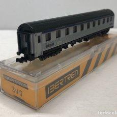 Trenes Escala: IBERTREN VAGÓN CAMAS (ALUMINIO) REFERENCIA 207, ESCALA N. Lote 187121387