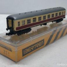 Trenes Escala: IBERTREN VAGÓN 2ªCLASE (MARFIL-ROJO) DB REFERENCIA 211, ESCALA N. Lote 187122290