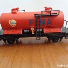 Trenes Escala: VAGÓN CISTERNA 2 EJES CISTERNA FINA DE IBERTREN 358. ESCALA N. BUEN ESTADO. Lote 189705590