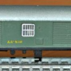 Trenes Escala: FURGÓN DE EQUIPAJES 4 EJES DE SERIE 8000 DE RENFE EN COLOR VERDE DE IBERTREN, REF. 205. ESCALA N. Lote 191455480