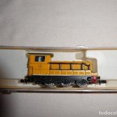 Trenes Escala: LOCOMOTORA IBERTREN 3N REF. 020 Y TRE VIAS RECTAS 3N NUEVAS. Lote 192743293