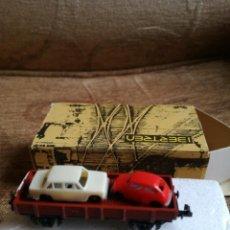 Trenes Escala: VAGON BORDE BAJO CON COCHES REF 3102/M. Lote 193884378