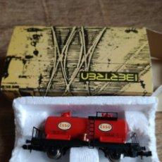 Trenes Escala: VAGON CISTERNA «ESSO» REF 3403. Lote 193884882